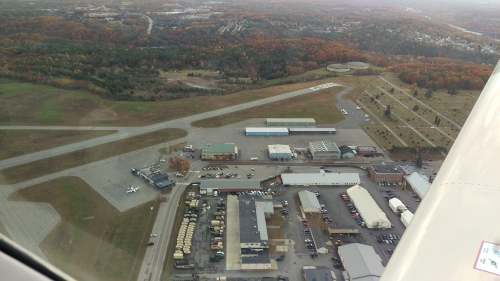 The Augusta State Airport looking northeast.