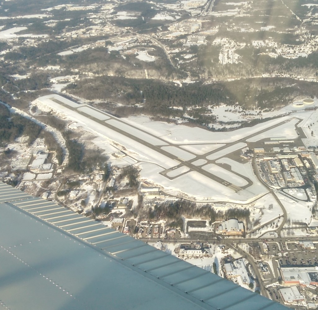 The Augusta State Airport looking northeast during the winter of 2014/15.