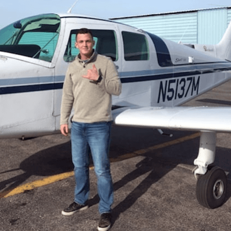 Courtland Wallick earned his private pilot license on 1/23/20.