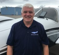 Dan Morin, Assistant Chief Flight Instructor and Chief Charter Pilot.