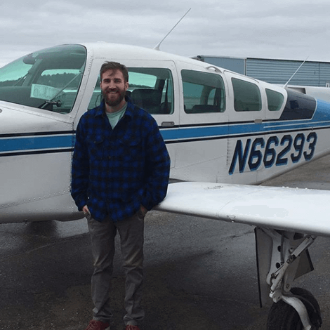Dylan Reny, Single Engine Commercial flight.