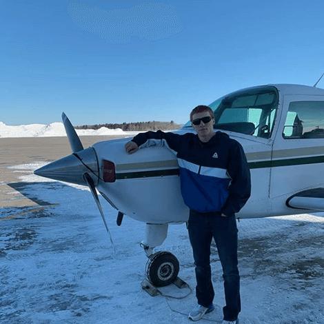 Elijah Allen, first solo flight.