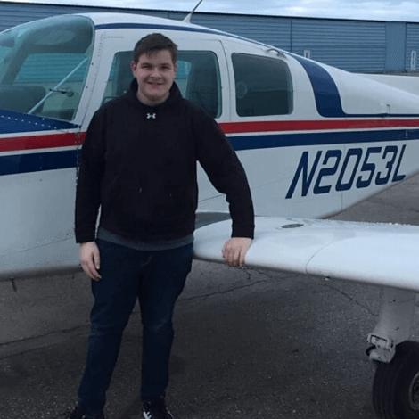 Garret Johnson, first solo flight.