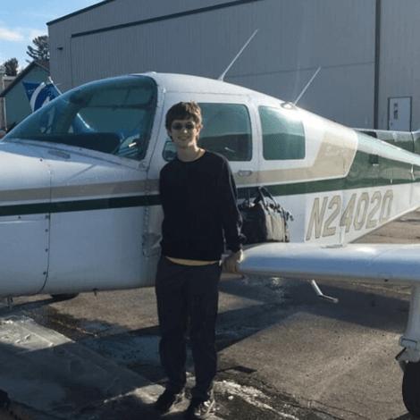 Joseph Lane had his 1st solo flight on December 5, 2019.