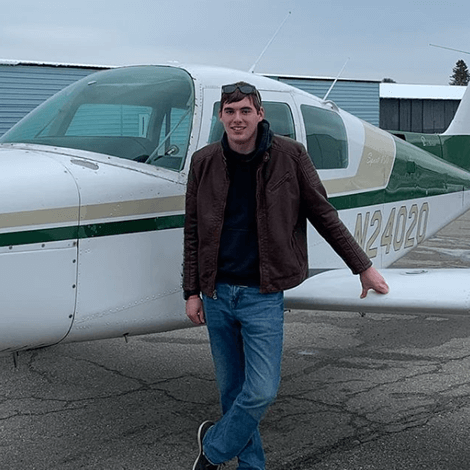 Nathan Roberts had his first solo flight on January 3rd 2020.