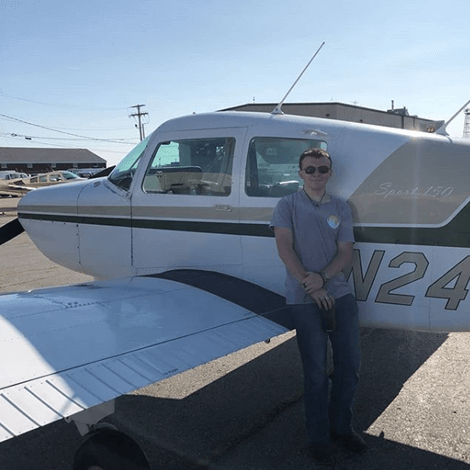 Patrick Sullivan earned his Private Pilot license on August 6, 2019.