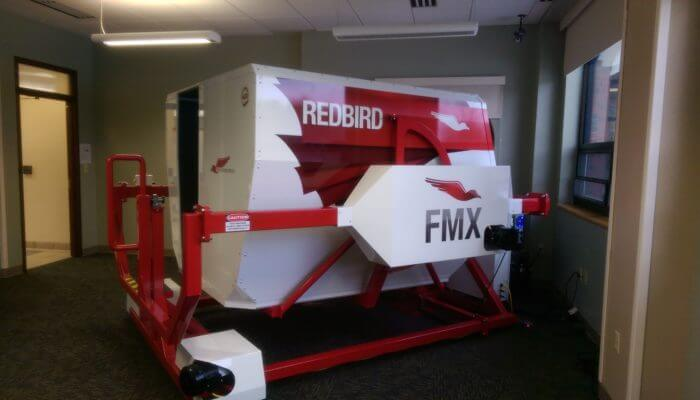Red Bird FMX Full Motion Flight Simulator.