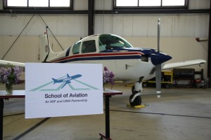 UMAir School of Aviation sign.