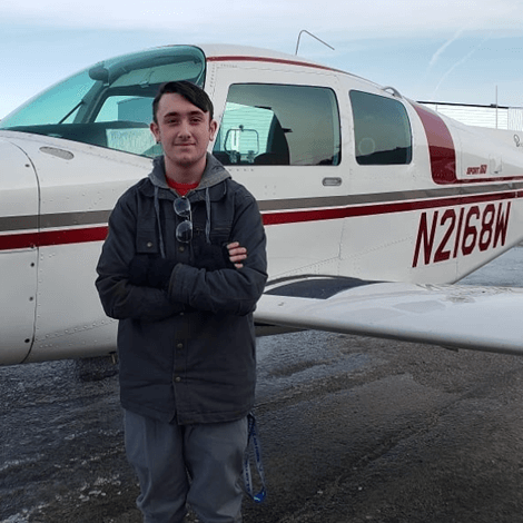Tyler Ormande had his first solo flight on December 29th 2019.