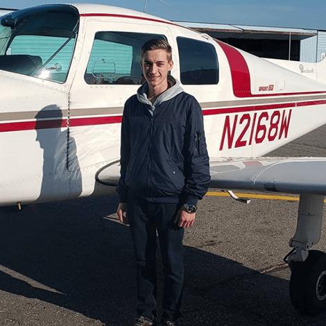 Victor Popov earned his Private Pilot license on November 26, 2019.