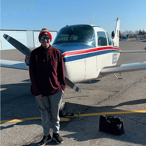 Vincent Nelson had his first solo flight on November 11, 2019.