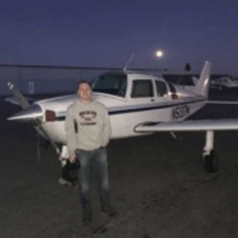 Zach Ellis had his, first solo flight on December 11, 2019.