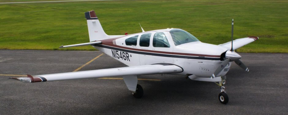 Beechcraft Bonanza F33A, high-performance aircraft training.