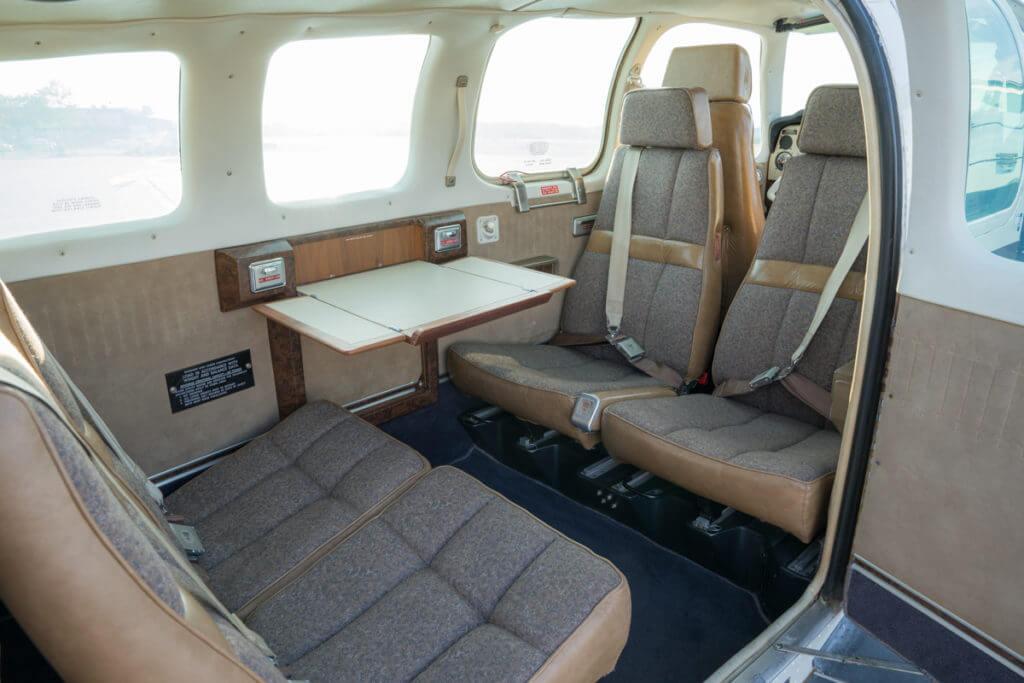 1976 Beechcraft Bonanza interior.