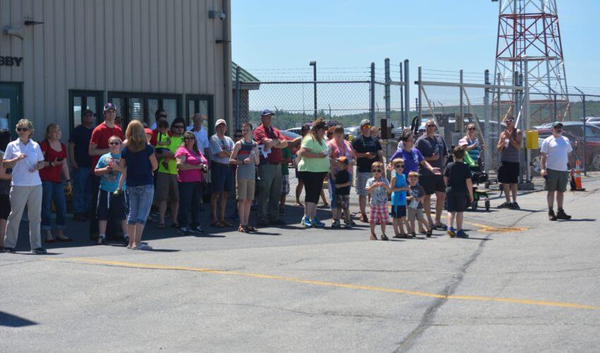 About Us: Crowd at Maine Instrument Flight's 70th anniversary.