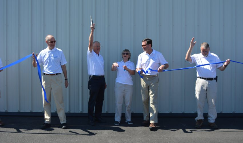 Ribbon cutting at the 70th anniversary celebration.