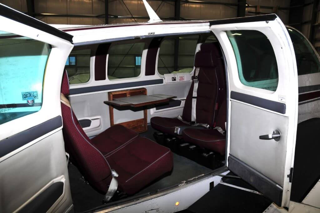 Beechcraft Baron 58 interior.
