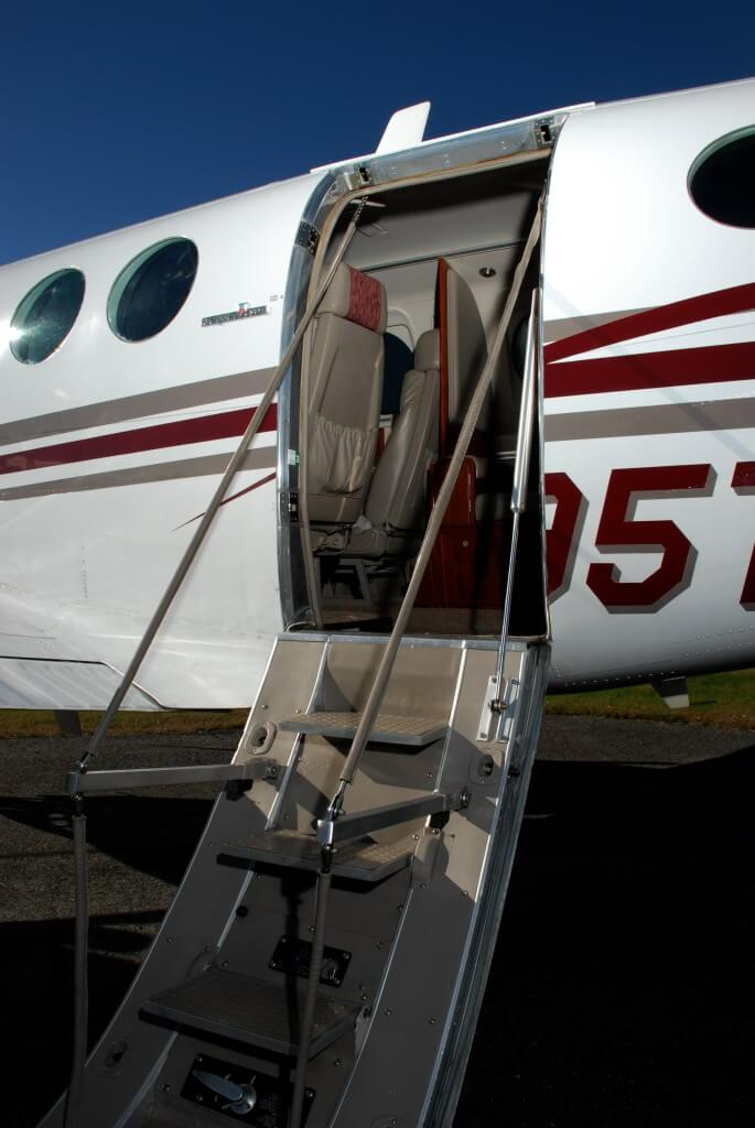 Beechcraft King Air stairs.